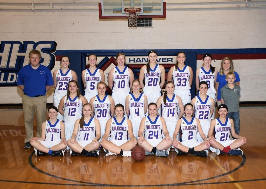 16-17 Hanover womens basketball team