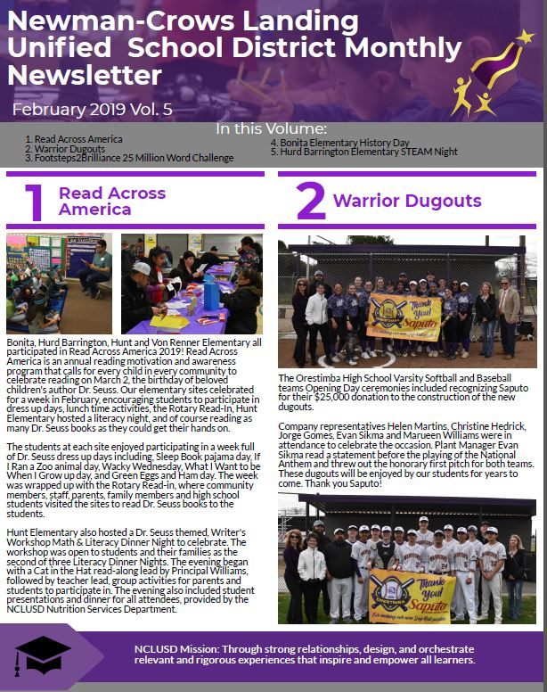 NCLUSD February Newsletter link