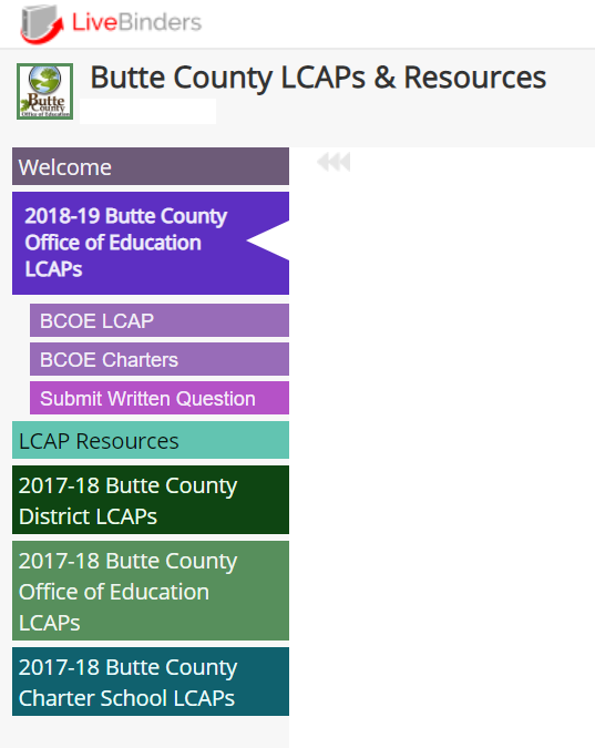 LCAPs for Butte County School Districts, Charter Schools and County Office of Education 17-18 and 18-19