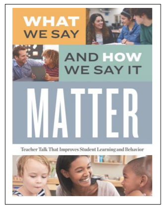 Image: What we say Matters Book cover