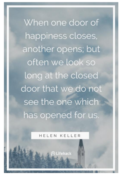 Image: Helen Keller Happiness quote