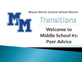 MMCSD Middle School, Peer Advice Video