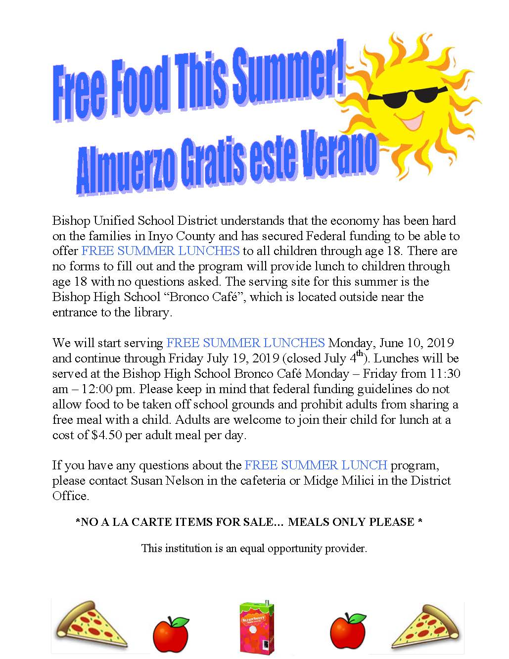 Free Food This Summer