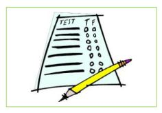 Image: Test Answer Sheet