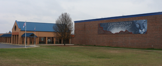 photo of the exterior of Grayson County High School