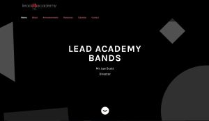 Lead Academy Bands Website