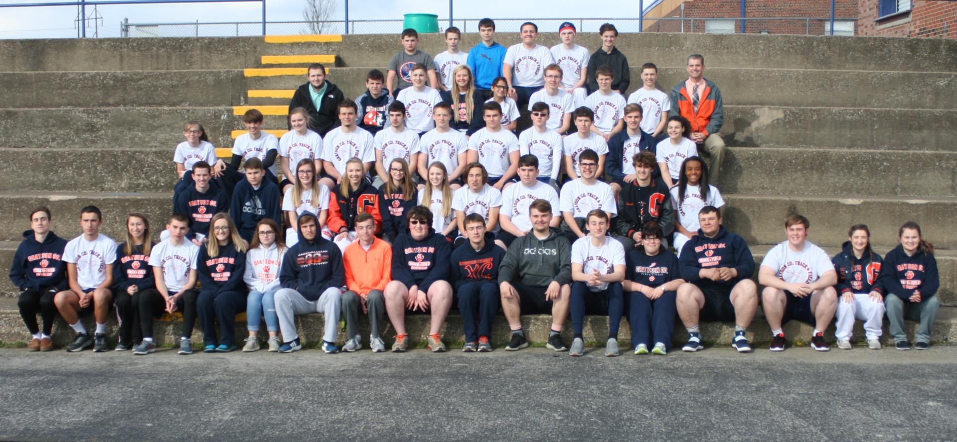 photo of the track and field team