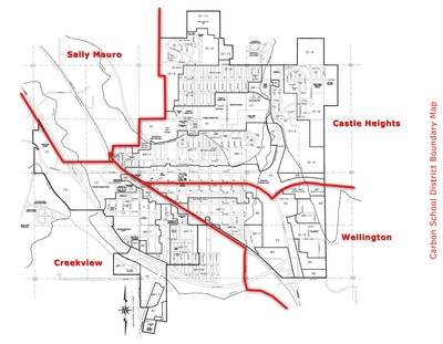 Boundary Map for Carbon School District