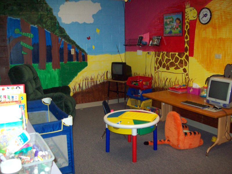 Play area at the Meade Community Learning Center