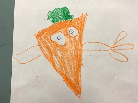 Kids drawing of vegetable