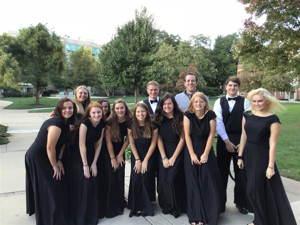 group of choir students