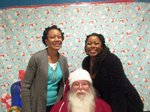 Teachers with Santa