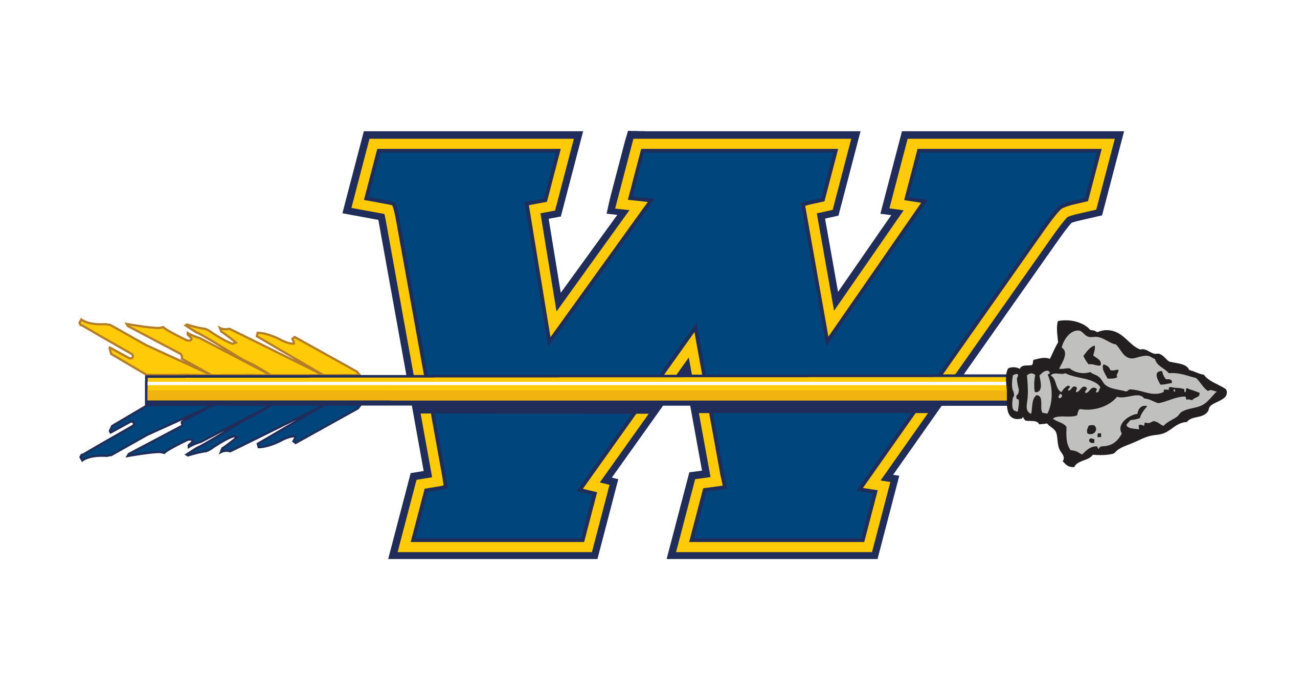 WAHS Logo - letter w with an arrow through it.