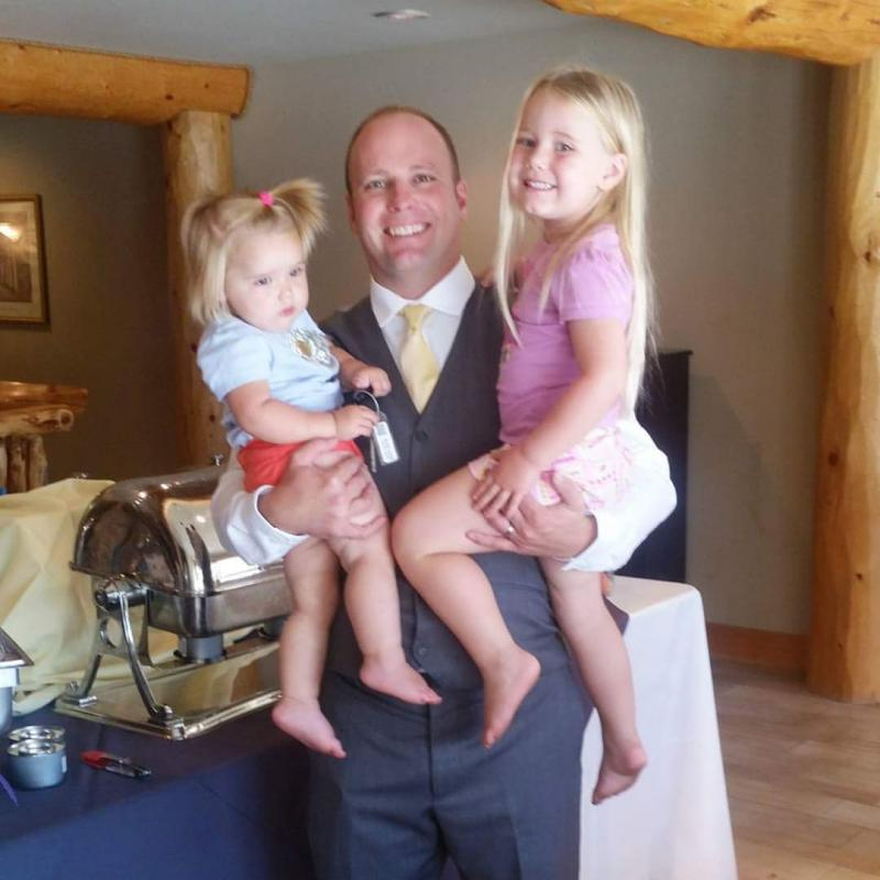 Jeremy Hickman and daughters
