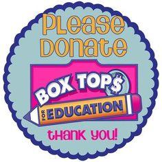 Please remember to donate your box tops!