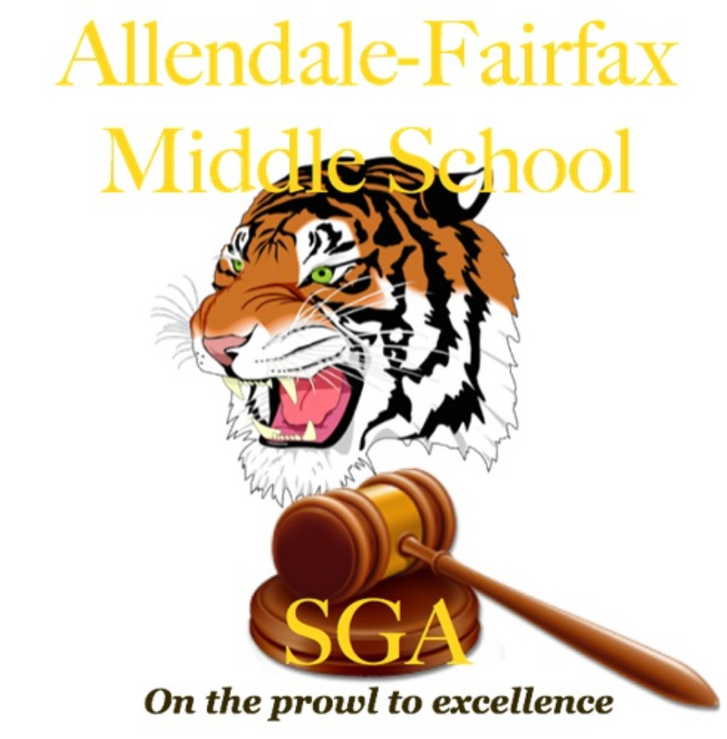 Allendale-Fairfax Middle School SGA On the prowl to excellence a tiger with a gavel