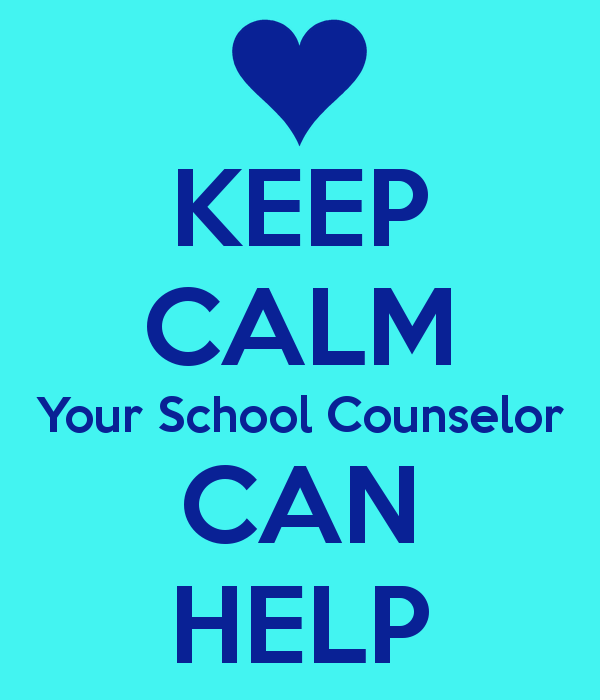 Keep Calm Your School Counselor Can Help sign