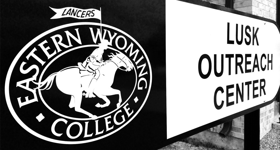 Eastern Wyoming College Lusk Outreach Center sign