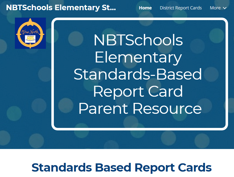 Click here for the Elementary Standards-Based Report Card website