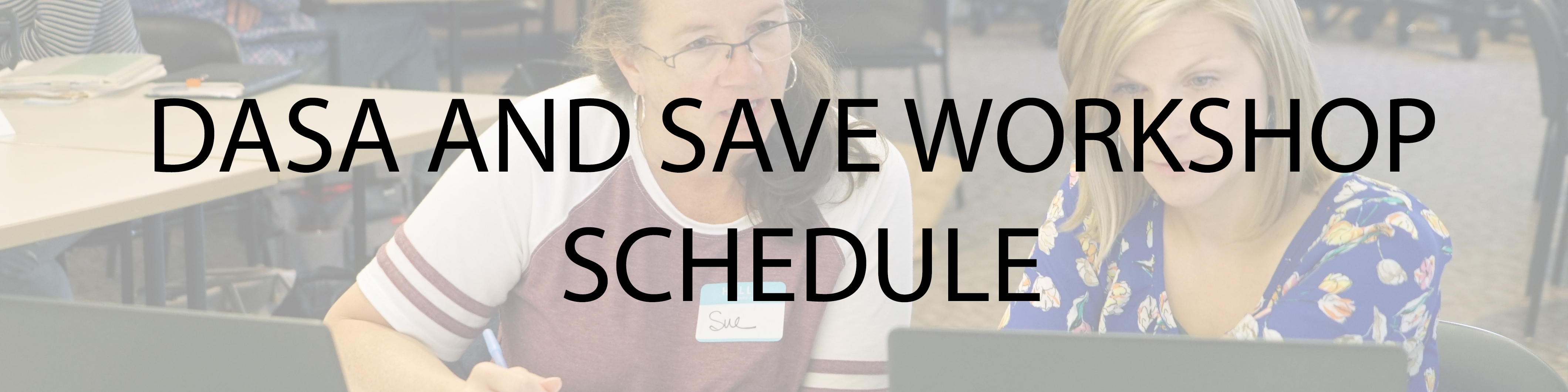 DASA and SAVE Workshop Schedule