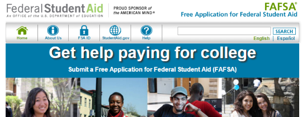 FASFA Website Homepage picture