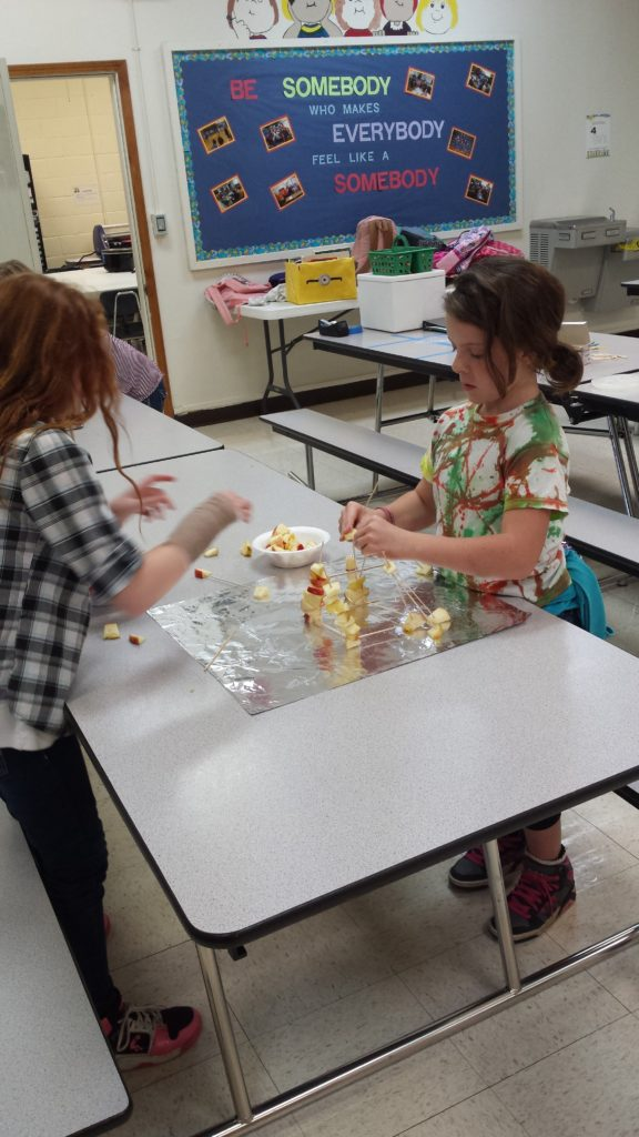 More EAGLE students with the structure they created