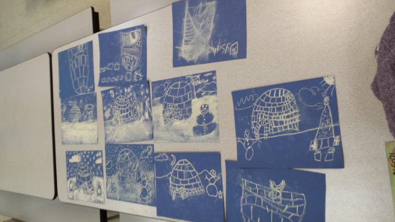 EAGLE student's igloo drawings
