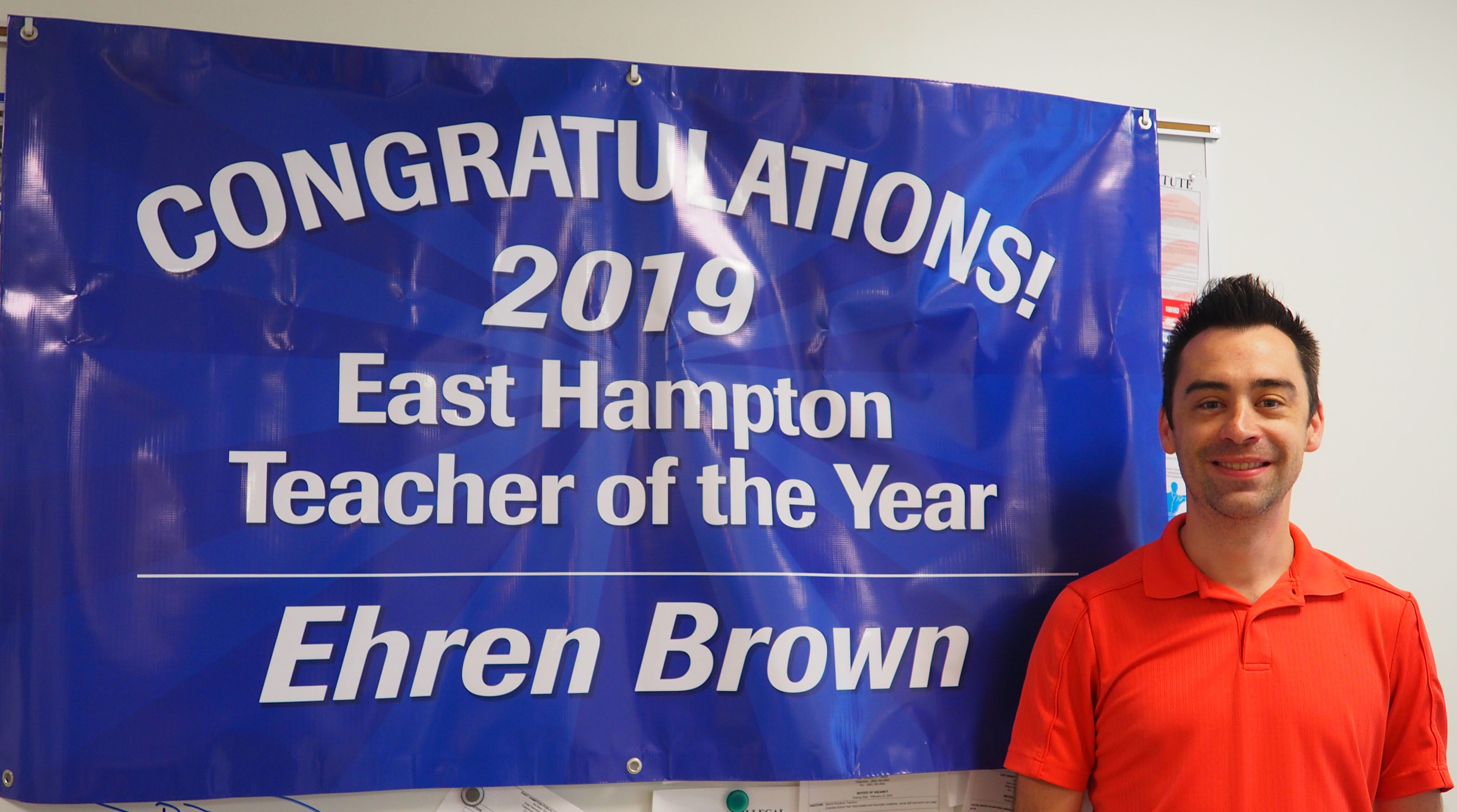 Teacher of the year with Banner