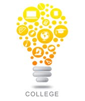 College light bulb graphic