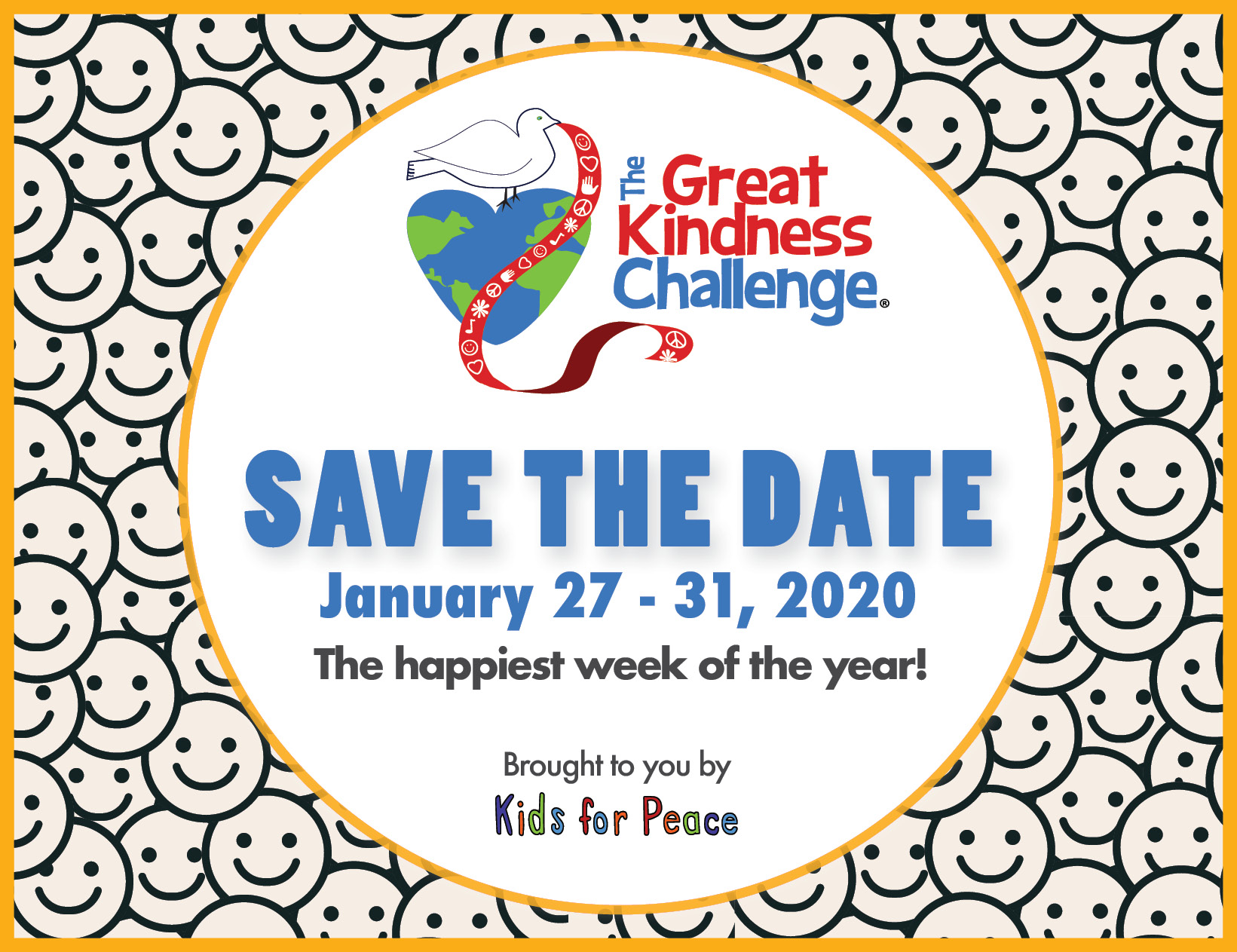 Great Kindness Challenge 2020 Save the Date