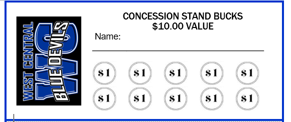 concession stand bucks