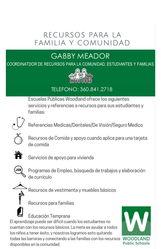 Resource Flyer - Spanish