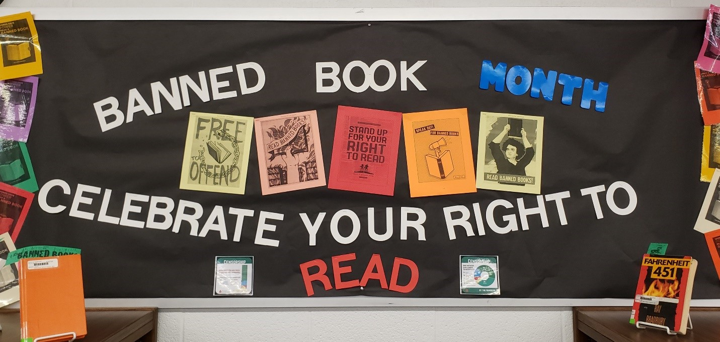 LHS Library Bulletin Board