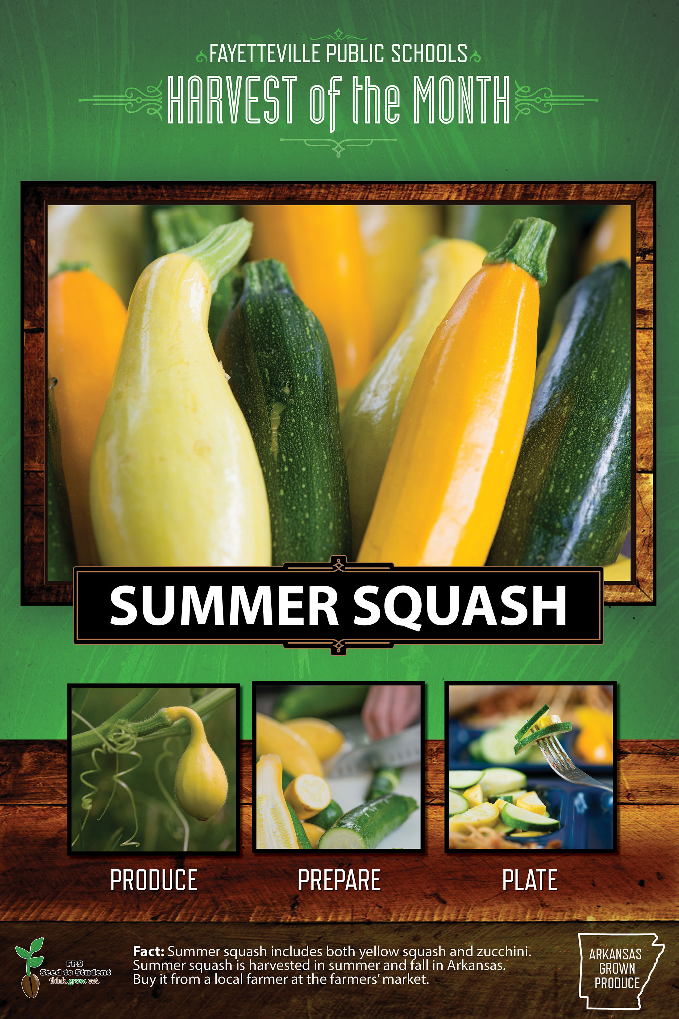 FPS Harvest of the month is Summer Squash