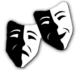 Theater Tragedy and Comedy Masks