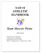 Athletic Handbook front cover