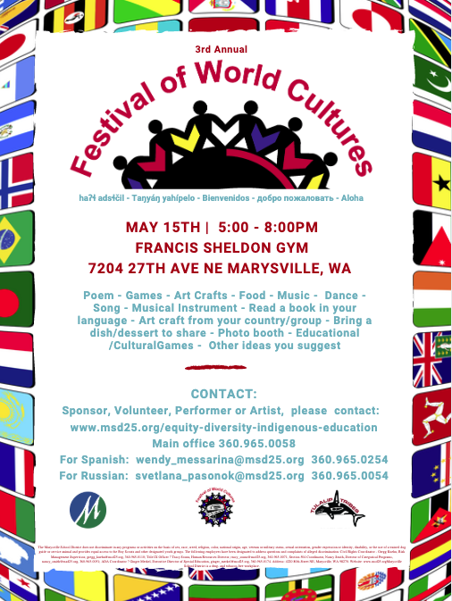 3RD FESTIVAL OF WORLD CULTURES - MAY 15TH 5-8PM