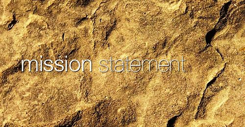 mission statement written on top of sand