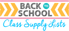 Back to School Class Supply Lists graphic