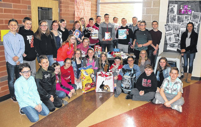 London Middle Schoolers collect donations for human society