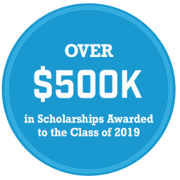 Over $500k scholarships to the class of 2019
