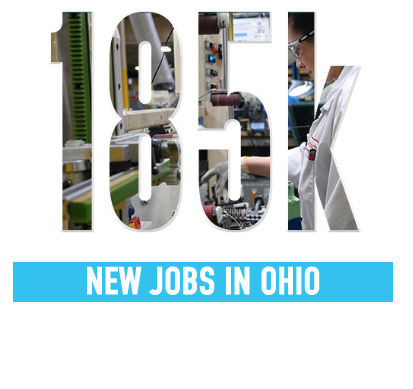 185k new jobs in ohio