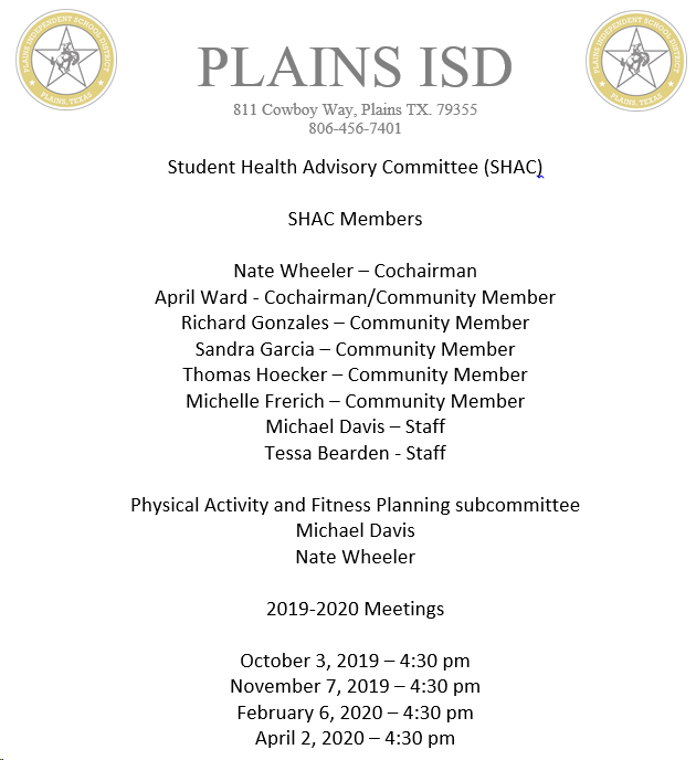 Student Health Advisory Committee