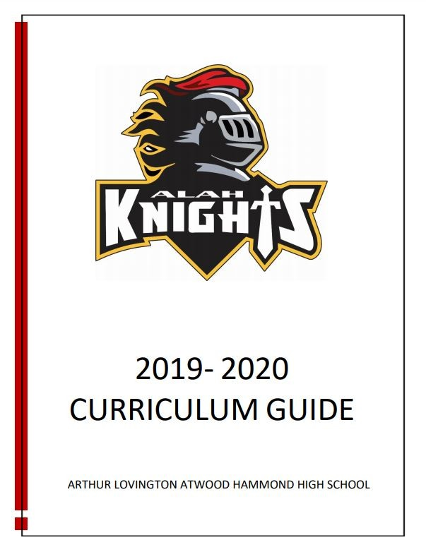 2019 - 2020 Arthur Lovington Atwood Hammond High School Curriculum Guide