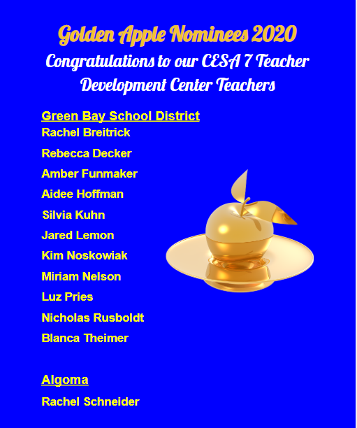 TDC Golden Apple Nominees 2020