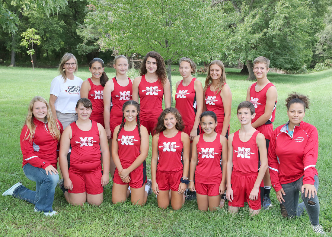 Junior High/High School Cross Country team picture