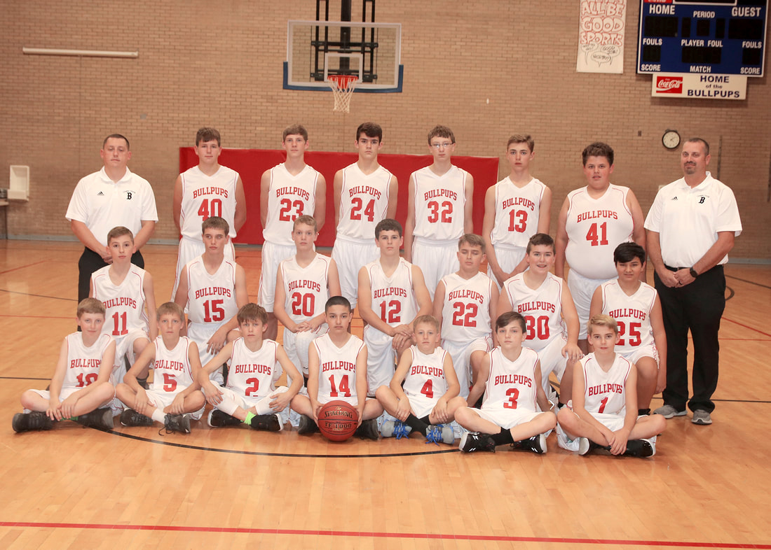 Junior High Boys Basketball team picture