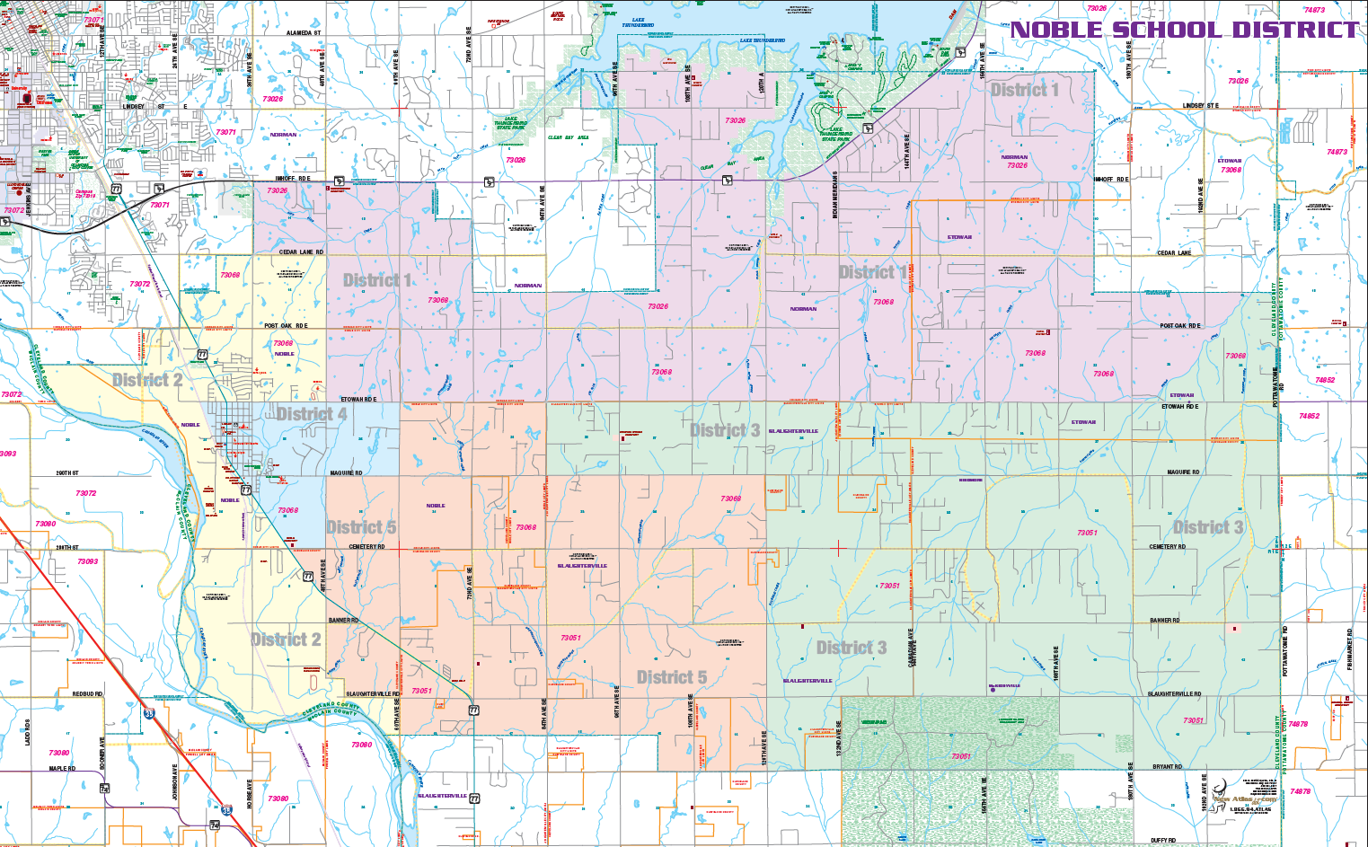 Noble Schools District Map
