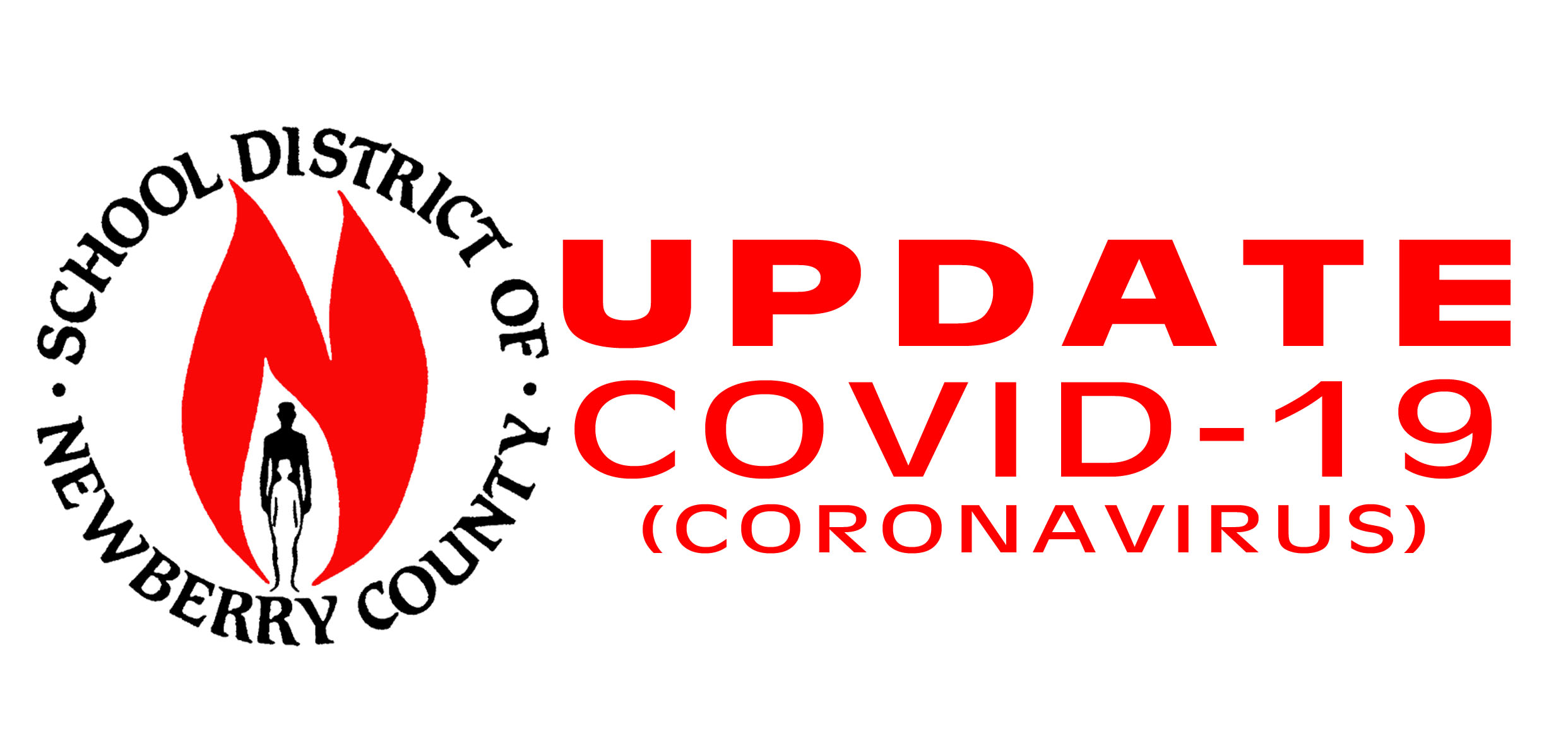 district logo with the words update for covid 19 coronavirus