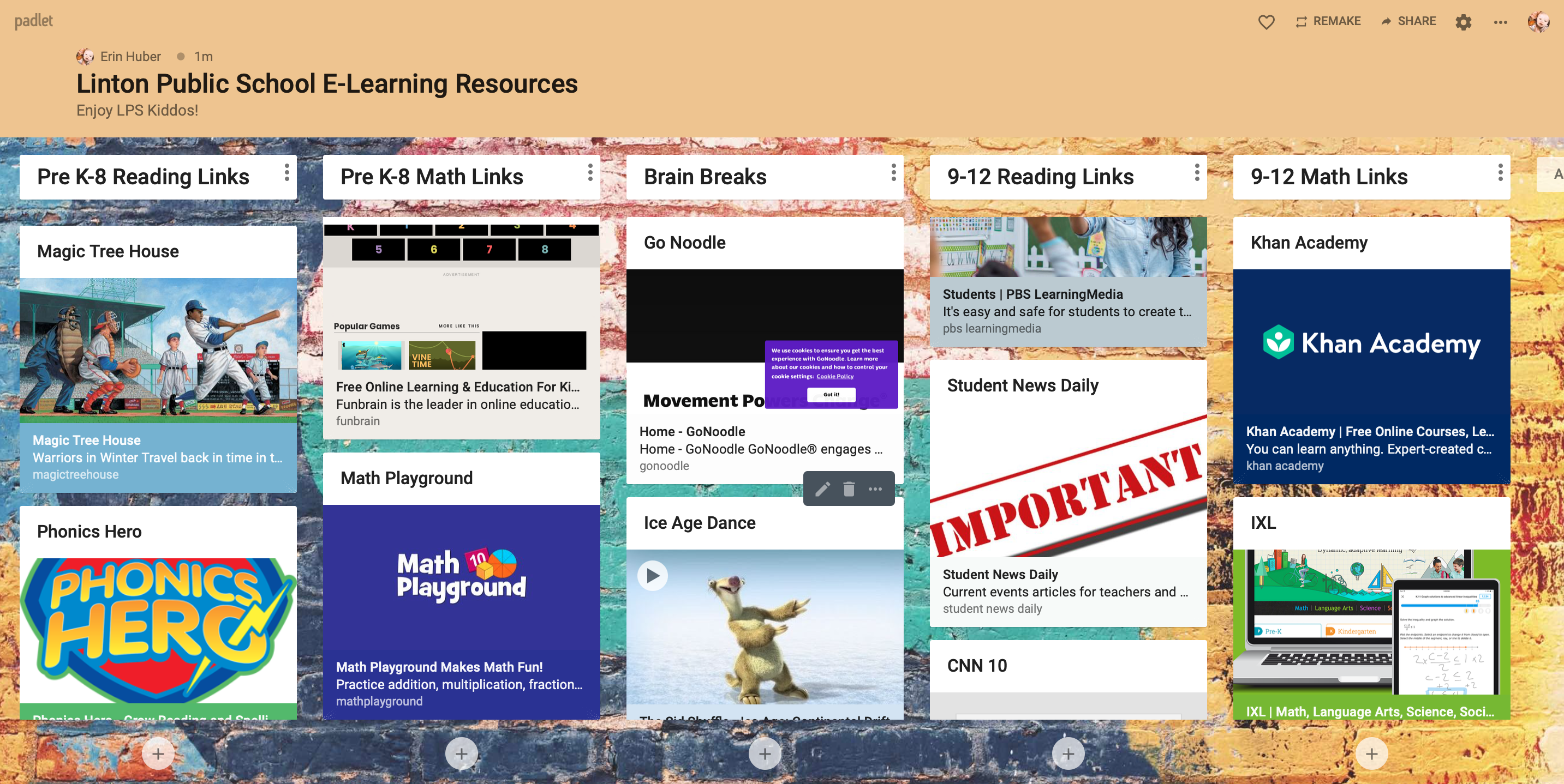 Padlet Resources
